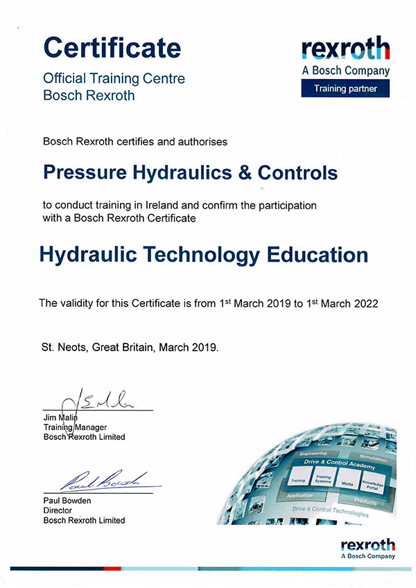 Rexroth Training Certificate
